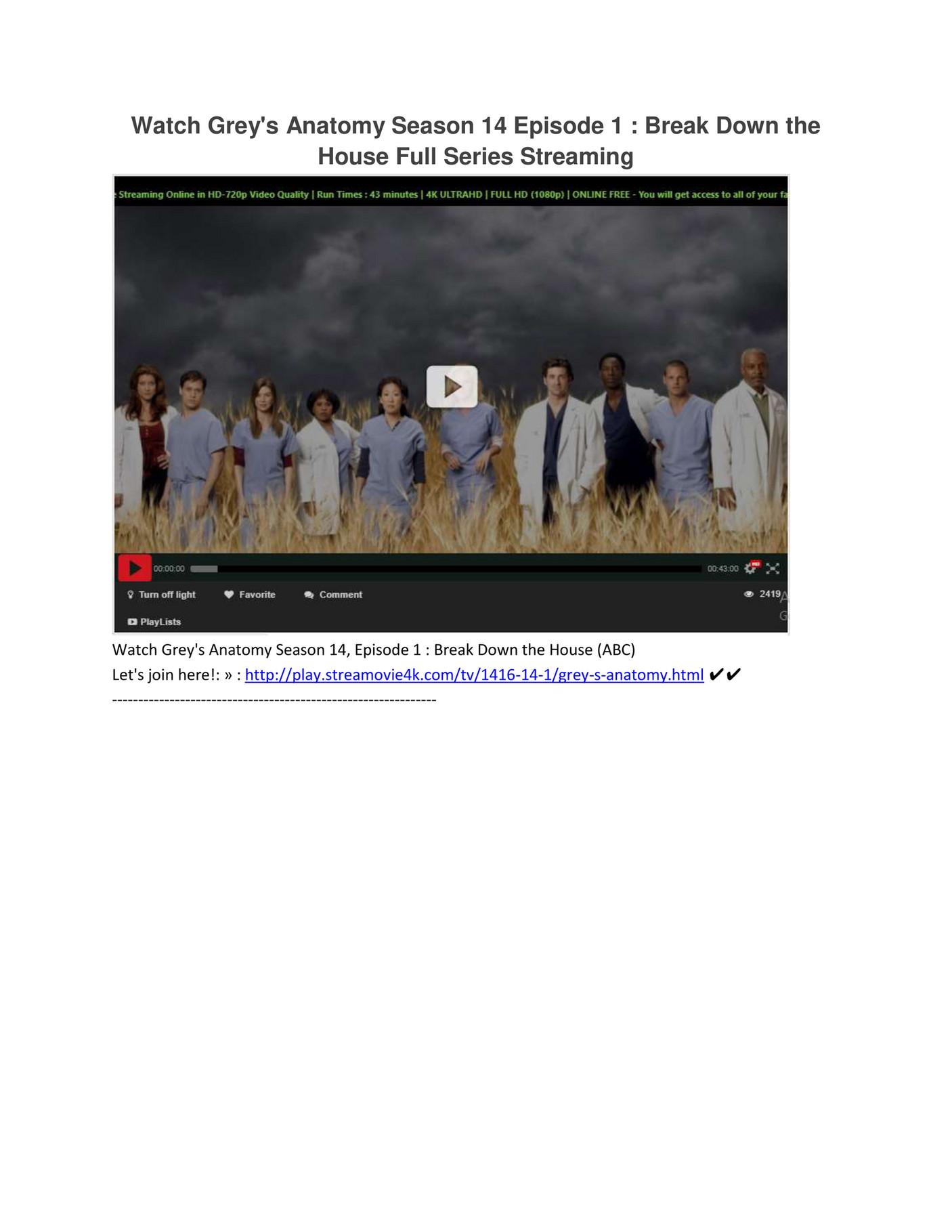 Greys Anatomy 14x1 Season 14 Episode 1 Full Episode Page 2