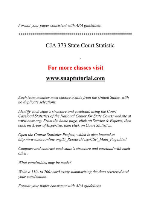 Ashford University - CJA 373 Course Extrordinary Success