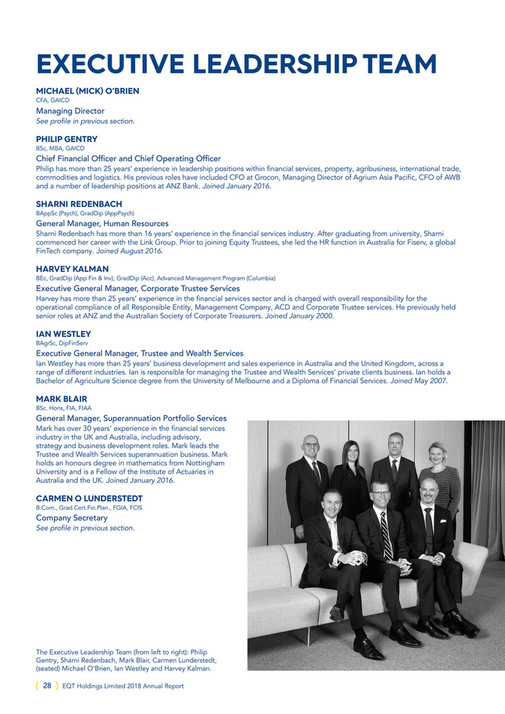 Equity Trustees - Annual Report 2018 - Page 28-29 - Created with