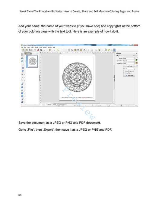 My Publications How To Create Share And Sell Mandala Coloring