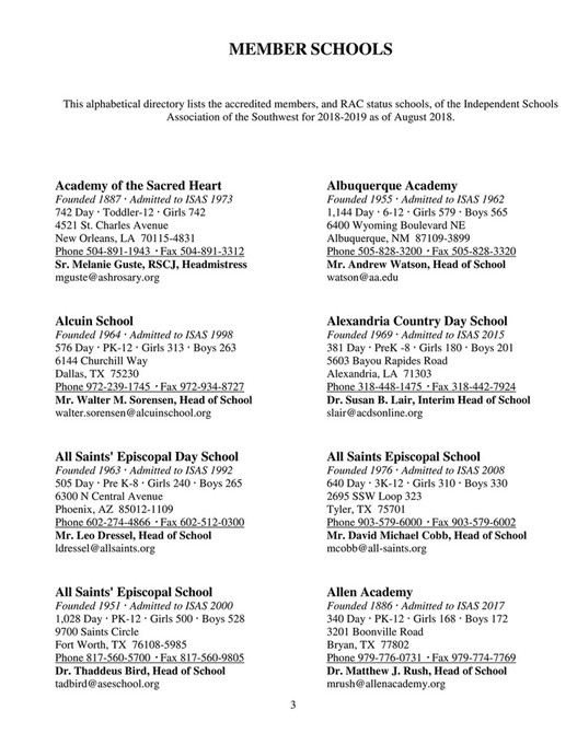 My publications - 2018-2019 ISAS Member School Directory - Page 4-5