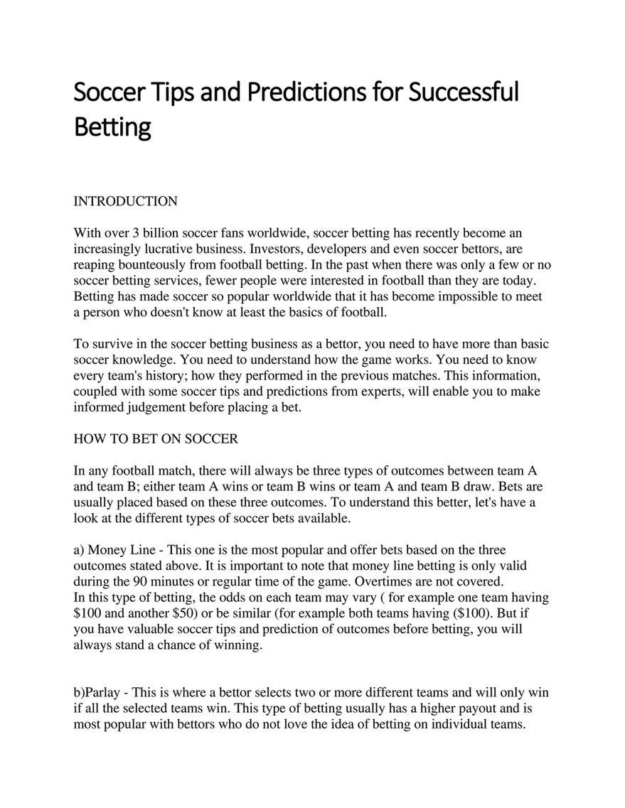 Felicianorton - Soccer Tips and Predictions for Successful