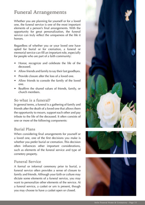 Ascendo media solie funeral planning guide page 14 15 created funeral arrangements whether you are planning for yourself or for a loved one the funeral solutioingenieria Choice Image