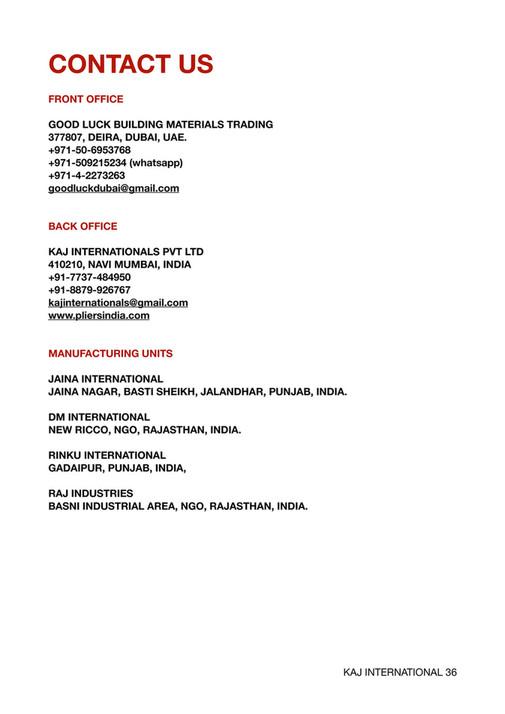 goodluck building materials trading - PRODUCT CATALOUGE KAJ