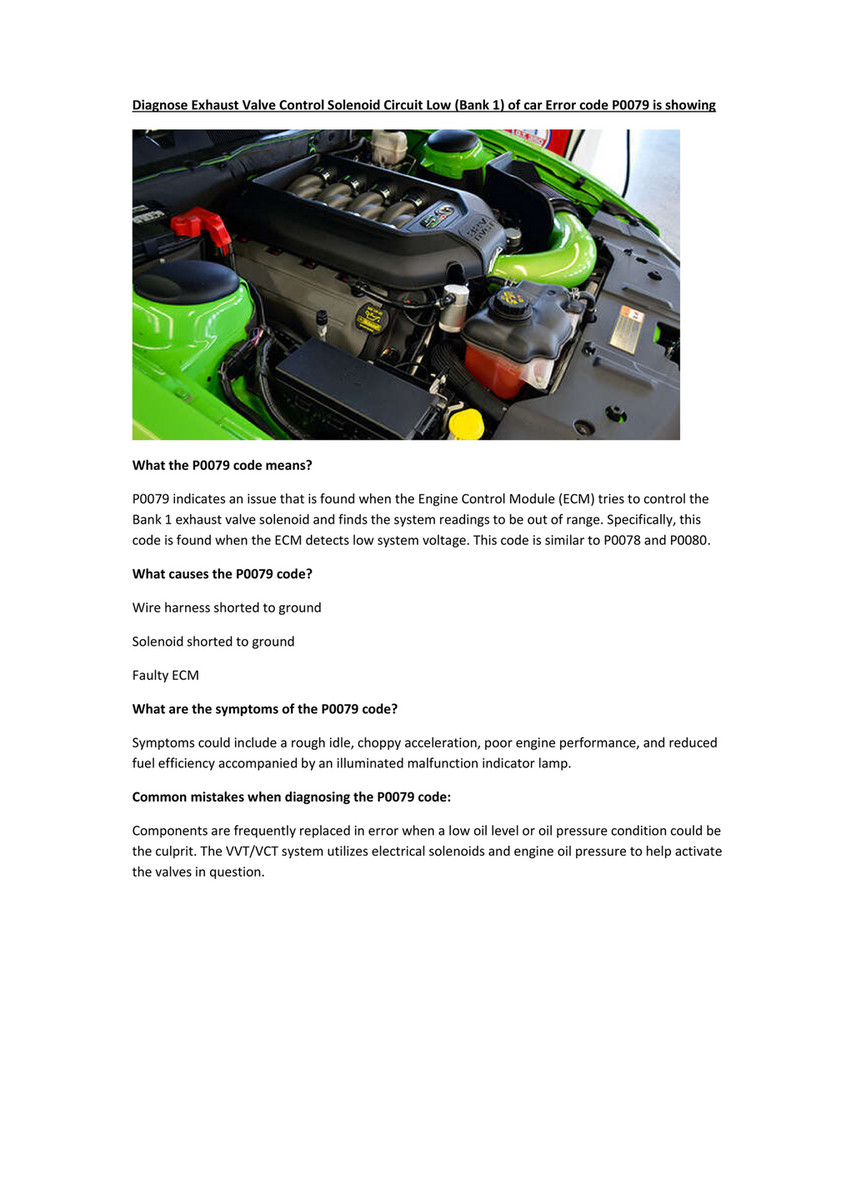 My publications - Partsavatar Car Parts, Toronto - Diagnose
