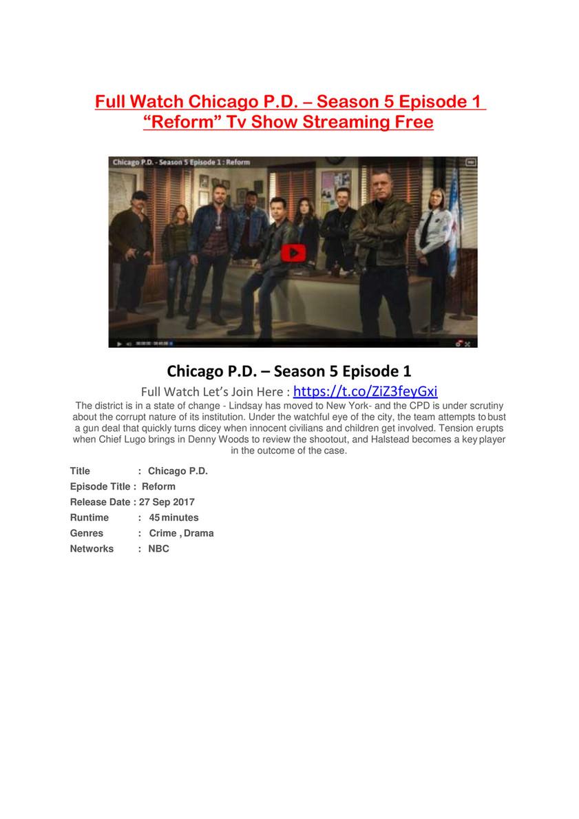 Cv Garuda Putlocker Watch Chicago P D Season 5 Episode 1 Online Free Hd Page 1 Created With Publitas Com