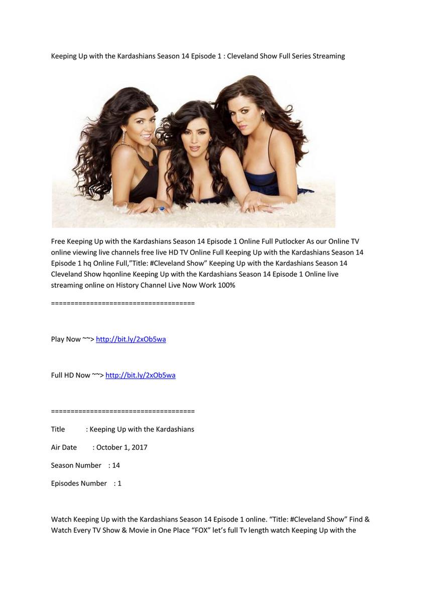 Rr Live Keeping Up With The Kardashians Kuwtk Season 14 Episode 1
