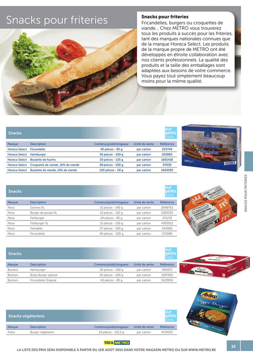 solutions-METRO-FR - Catalogue Snack-bar - Page 24-25