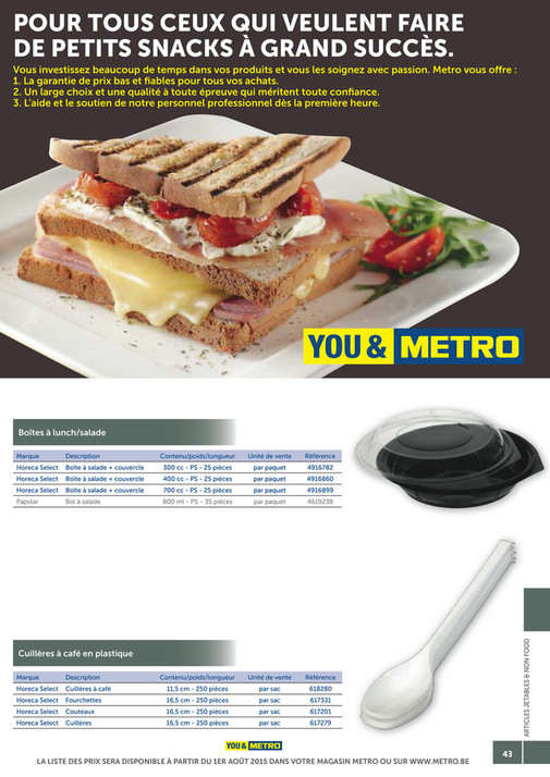 solutions-METRO-FR - Catalogue Snack-bar - Page 42-43