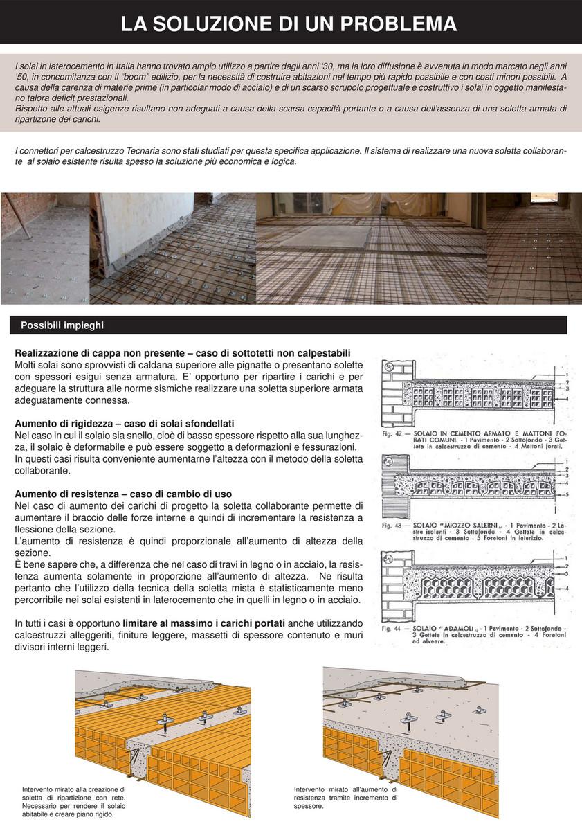 Solaio Laterocemento Anni 50 my publications - catalogo tecnaria - pagina 20-21 - created