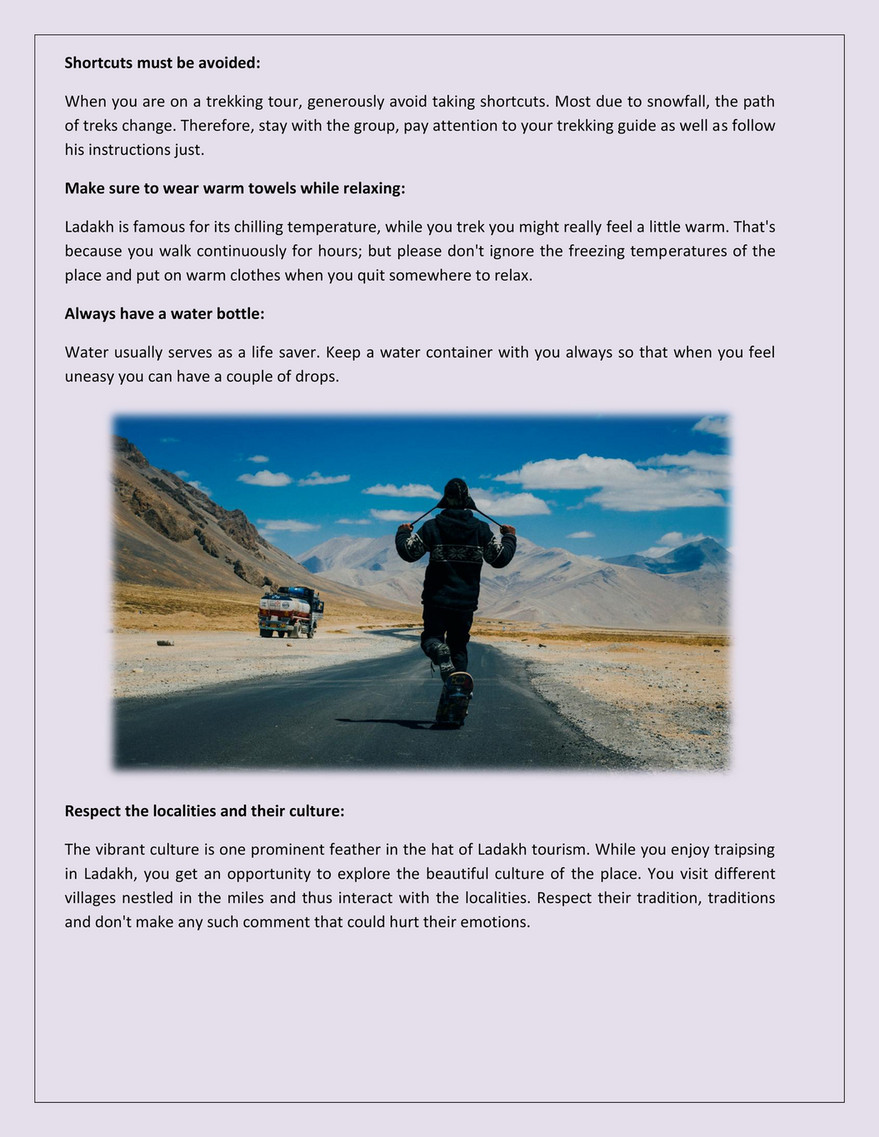 My publications - Ladakh - Trekking Travel Tips - Page 1 - Created