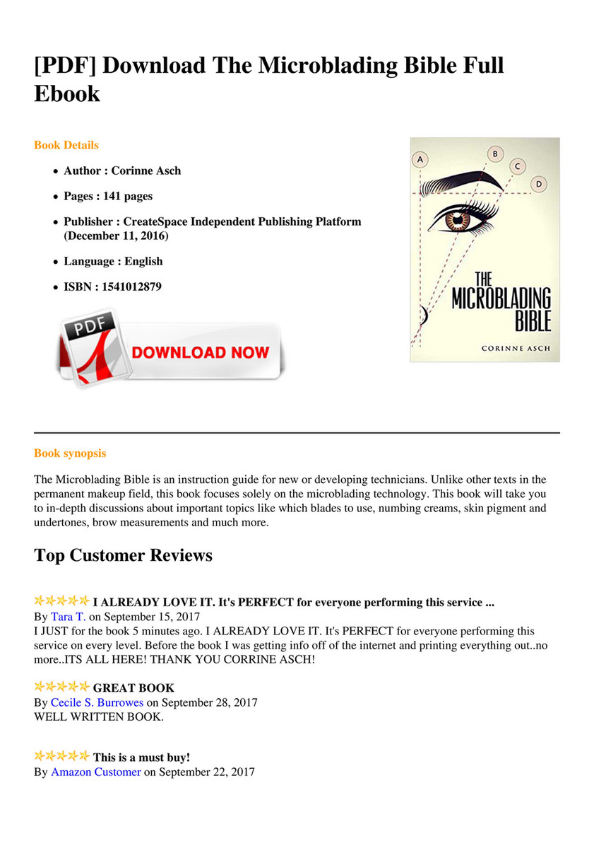Pdf Download The Microblading Bible Full Ebook Book De S Author Corinne Asch Pages