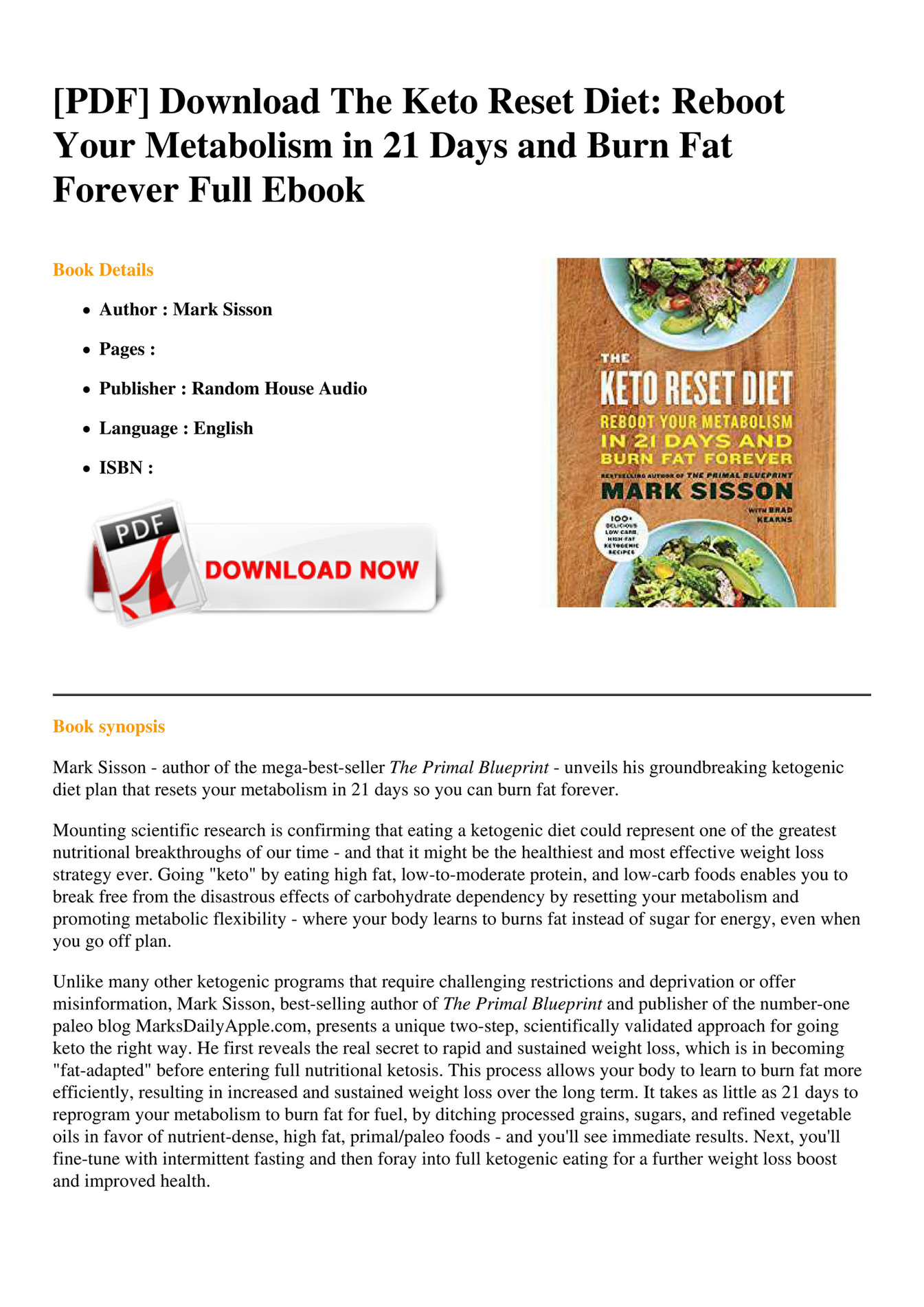 Ebook the keto reset diet reboot your metabolism in 21 days and ebook the keto reset diet reboot your metabolism in 21 days and burn fat forever page 2 3 created with publitas malvernweather Images