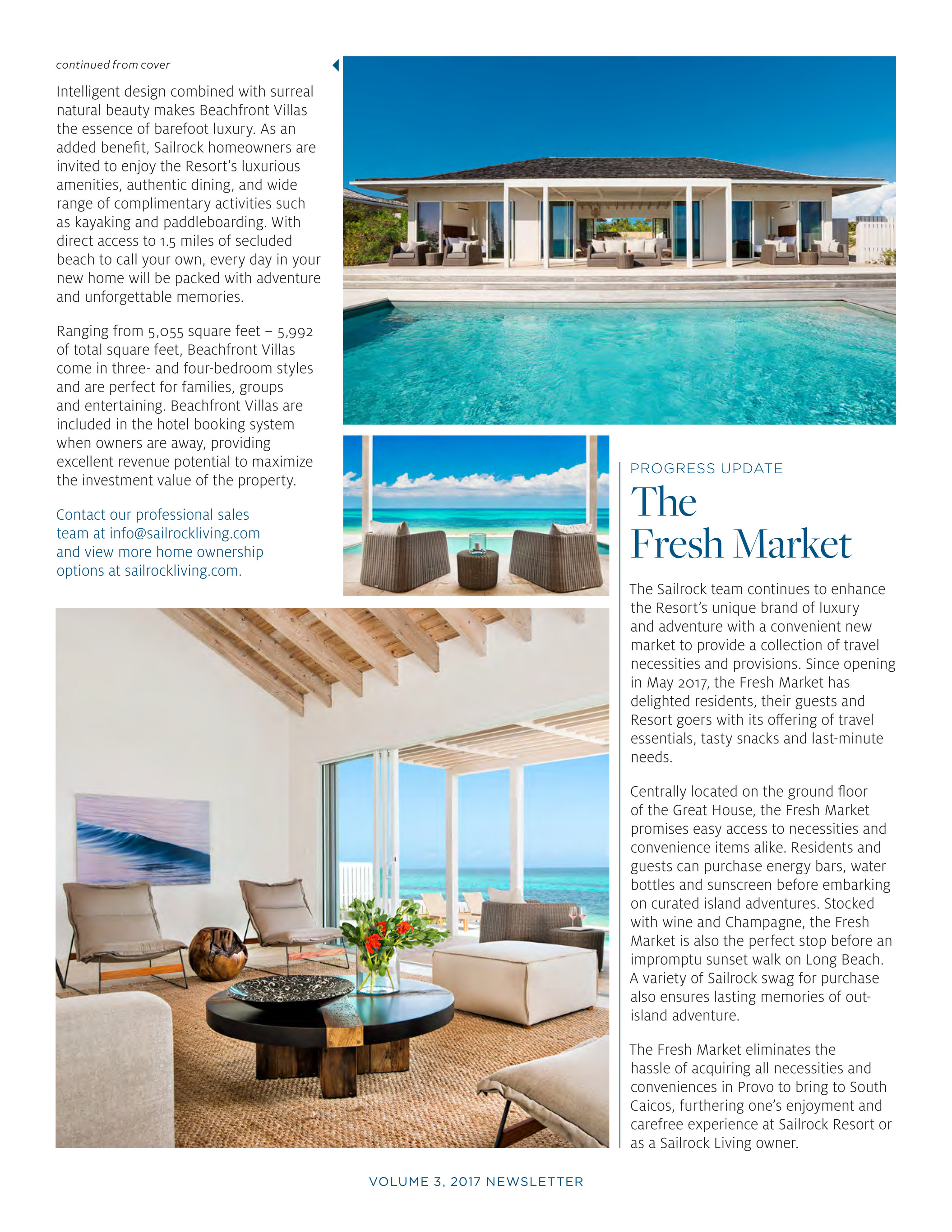 Sailrock South Caicos Quarterly Newsletter Volume 3 2017 Page 1 Created With Publitas Com