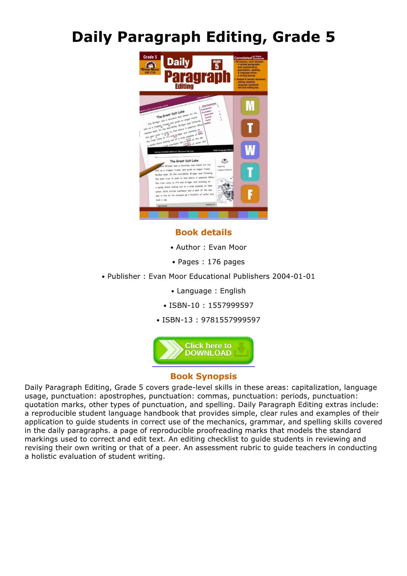 Turnitin   CCSS aligned Writing Rubric  Informative  Grades         th Grade Writing Rubric