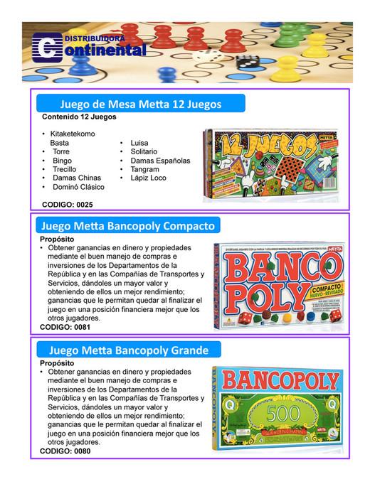 Dismart Juegos De Mesa Catalogo Continental 2017 Page 10 11