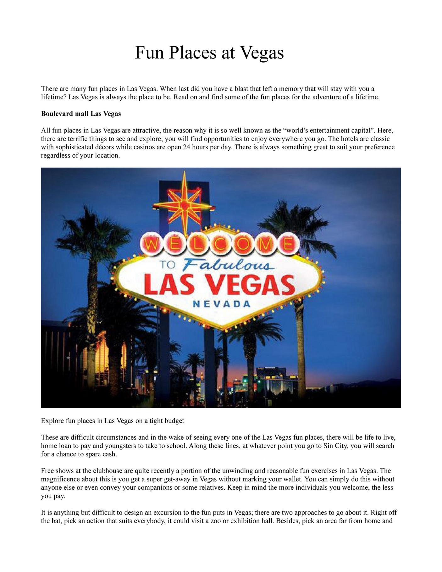 Faremachine - Fun places in Las Vegas - Page 2-3 - Created