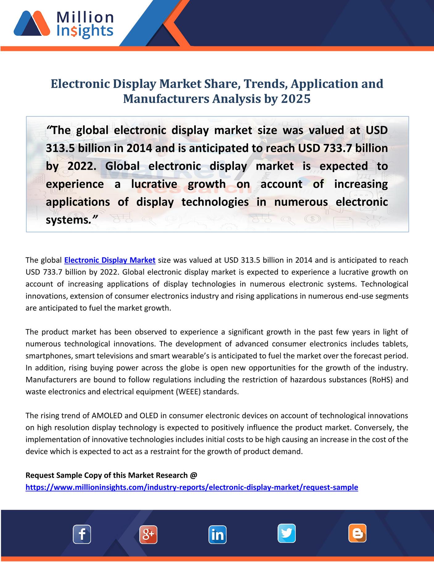 Market Developer - Electronic Display Market Share, Trends