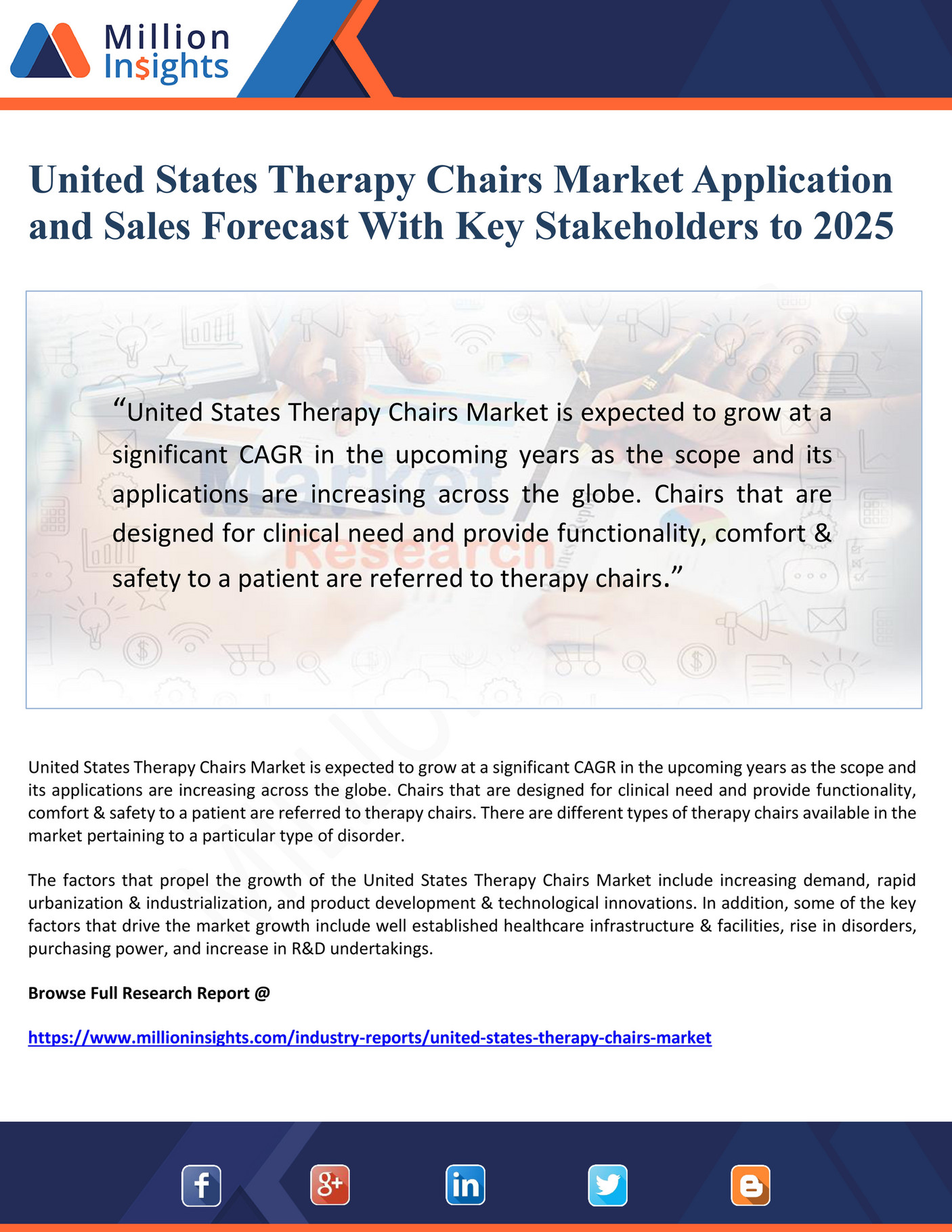 My publications - United States Therapy Chairs Market Application