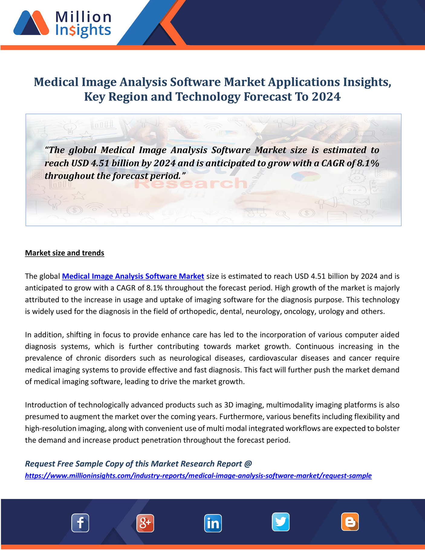 Million Insight Medical Image Analysis Software Market Applications Insights Key Region And Technology Forecast To 2024 Page 1 Created With Publitas Com