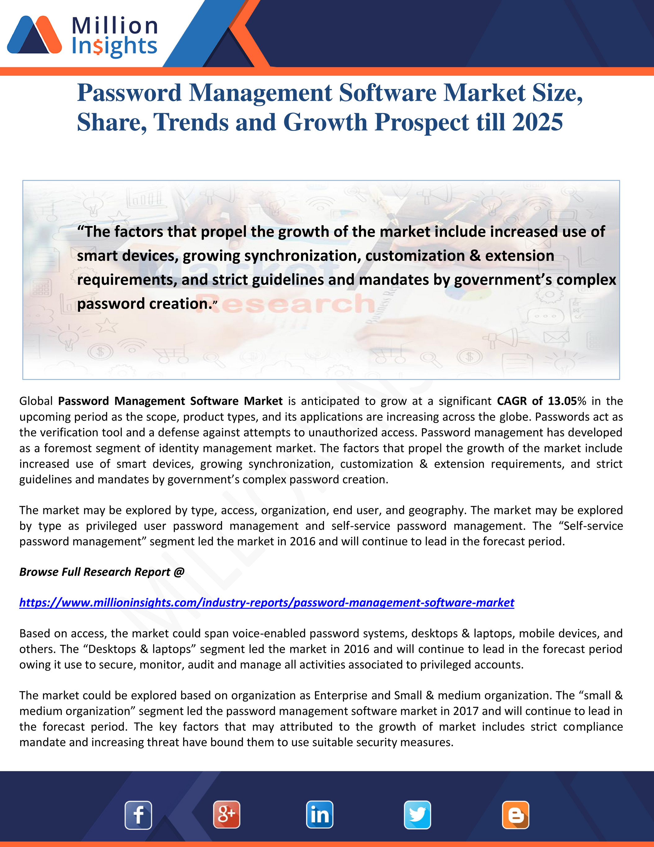 Million Insights Password Management Software Market Size Share Trends And Growth Prospect Till 2025 Page 1 Created With Publitas Com