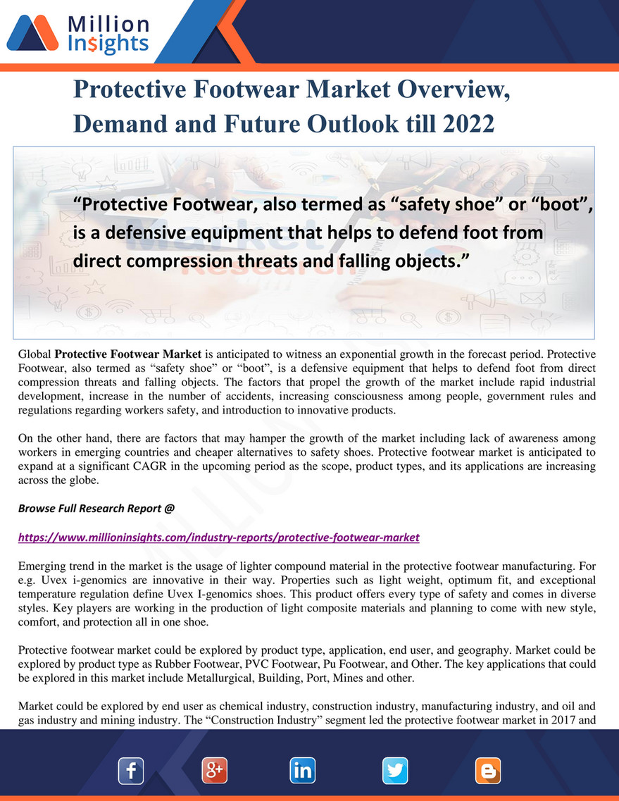 Million Insights - Protective Footwear Market Overview