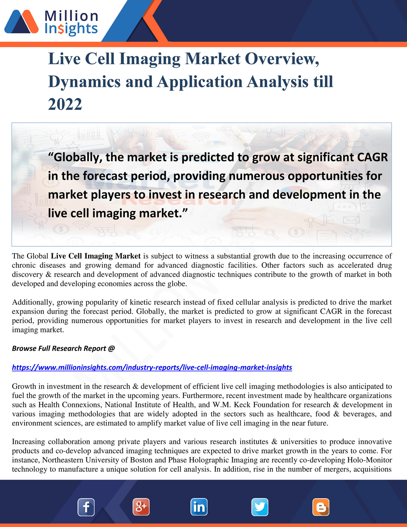 Million Insights - Live Cell Imaging Market Overview