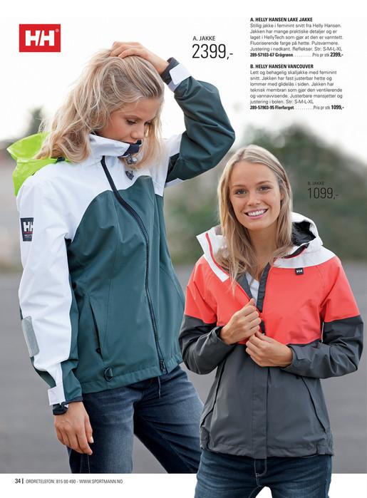 328c6056 A. HELLY HANSEN LAKE JAKKE A. JAKKE 2399,- Stillig jakke i feminint ...