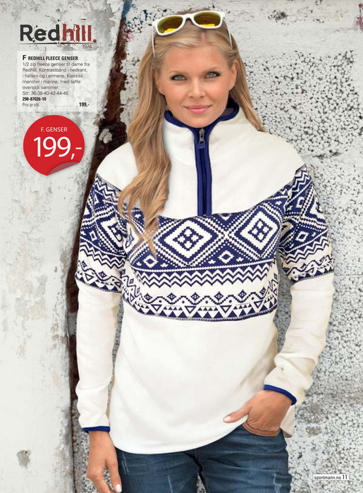 5124a1d0 ... F REDHILL FLEECE GENSER 1/2 zip fleece genser til dame fra Redhill.  Kontrastbånd