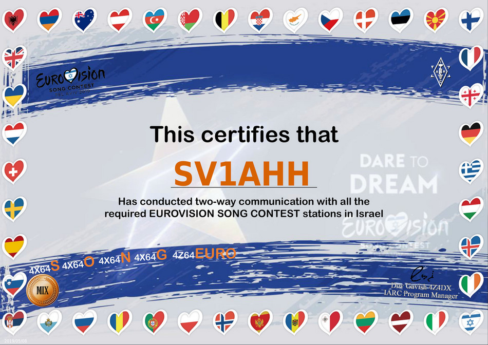 SV1AHH - Certificate israel SV1AHH - Page 1 - Created with