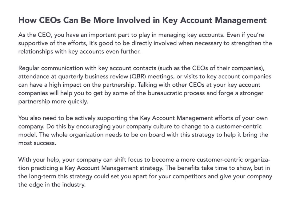 My publications - CEO's Guide to Key Account Management