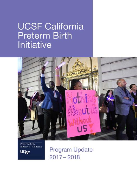 UCSF - California Preterm Birth Initiative Program Update