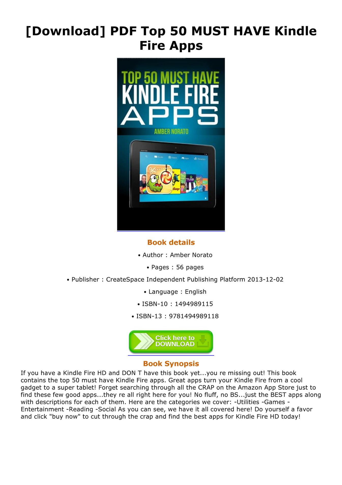 Pdf For Kindle Fire