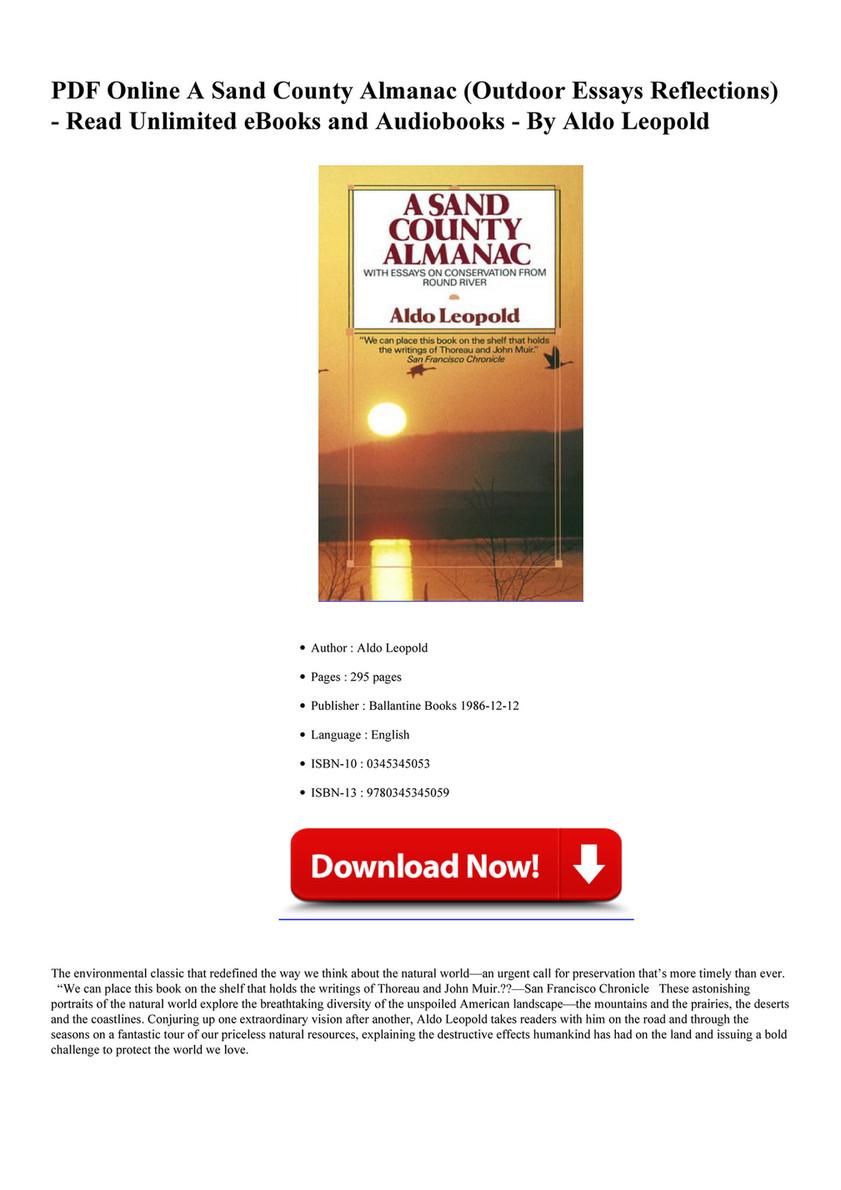 A Sand County Almanac Ebook