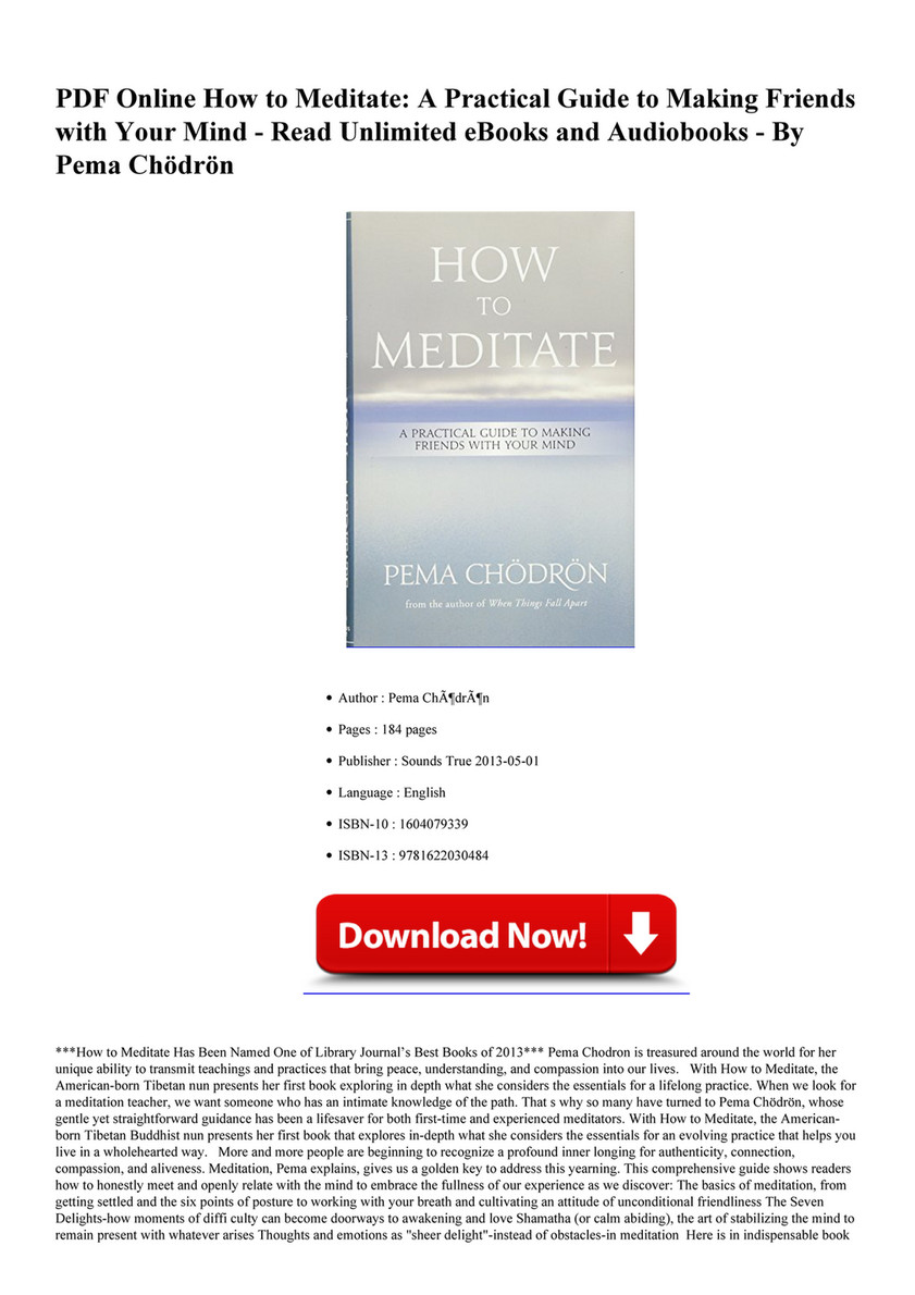 read online how to meditate a practical page 1 created with