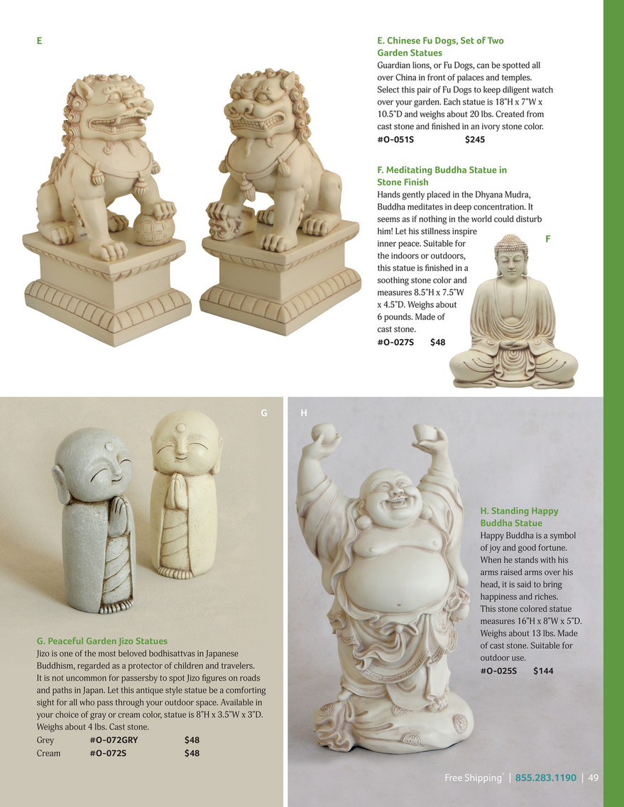 Buddha Groove Garden Foo Dogs Chinese Guardian Lion Statues