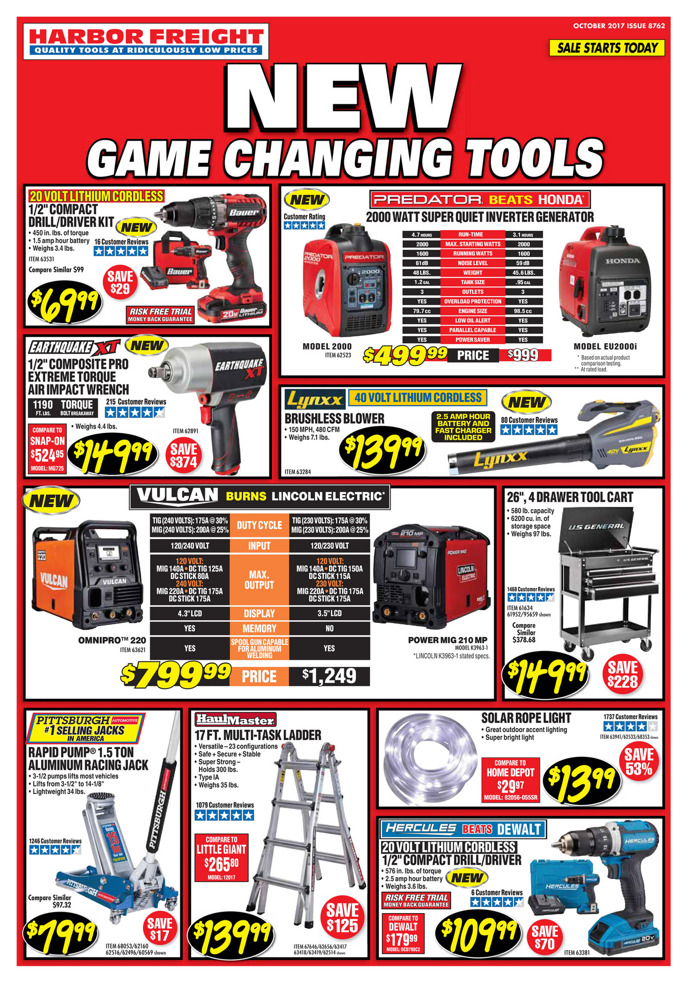 Since , Harbor Freight Tools' mission has been to provide workers with high quality tools for reasonable prices. Now, one of the largest tool and equipment retailers in the U.S., Harbor Freight Tools sells more than 5, items that'll help you complete nearly any job under the sun.