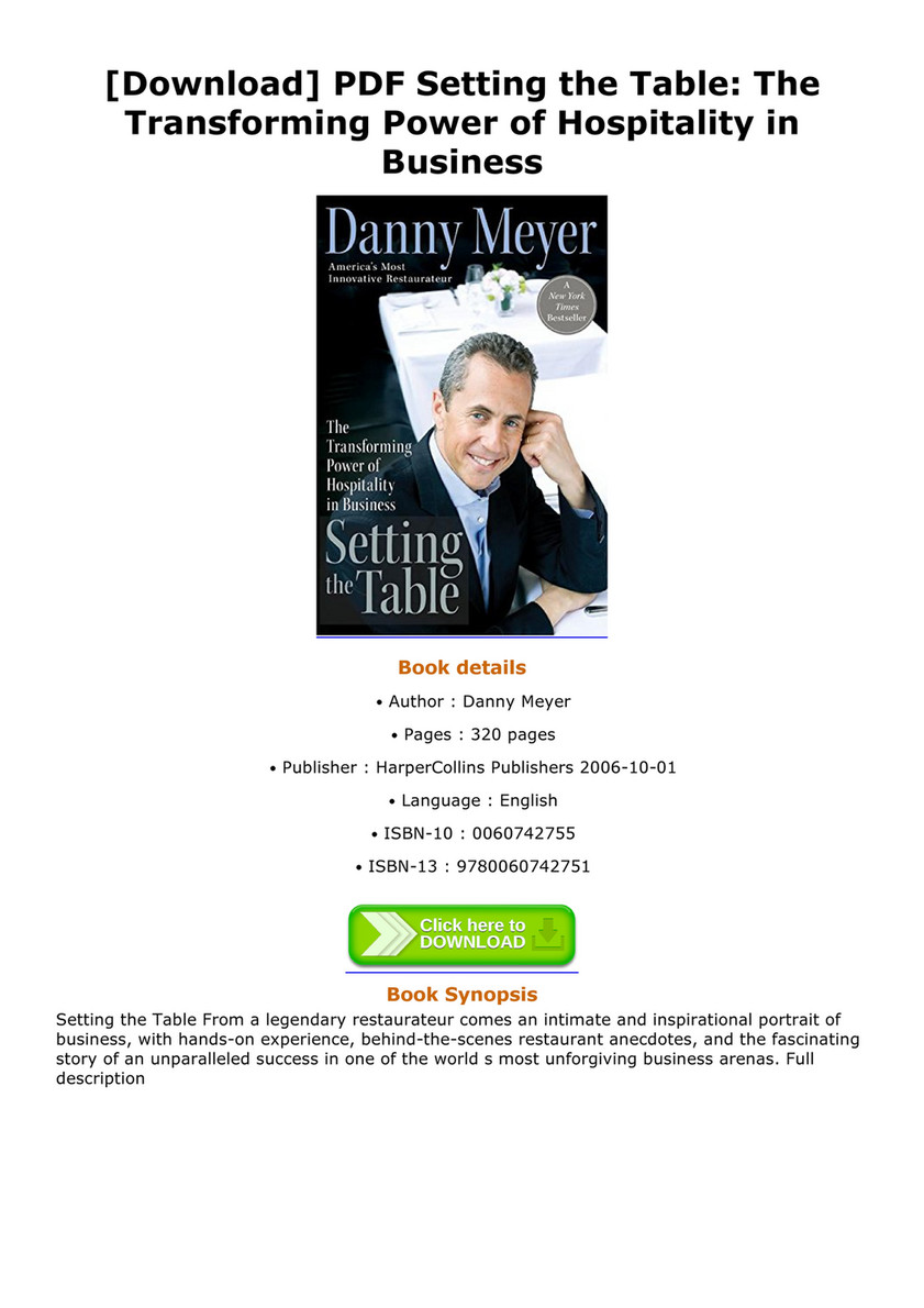 Astonishing Danny Meyer Book Review Setting The Table Ideas - Best ... Astonishing Danny Meyer Book Review Setting The Table Ideas Best  sc 1 st  Best Image Engine : setting the table danny meyer summary - Pezcame.Com