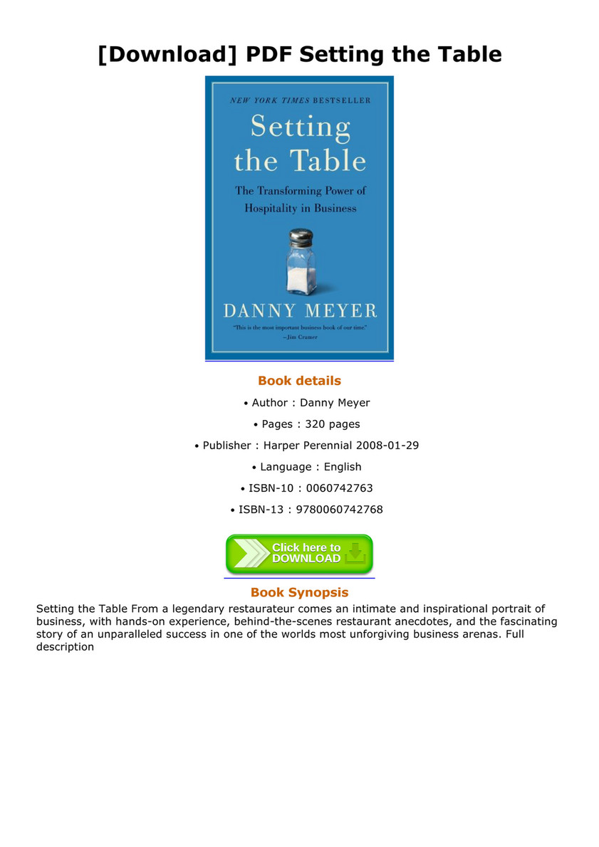 Mira - Download PDF Setting the Table - Page 1 - Created with ...