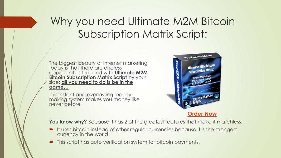 Matrix Script Pdf