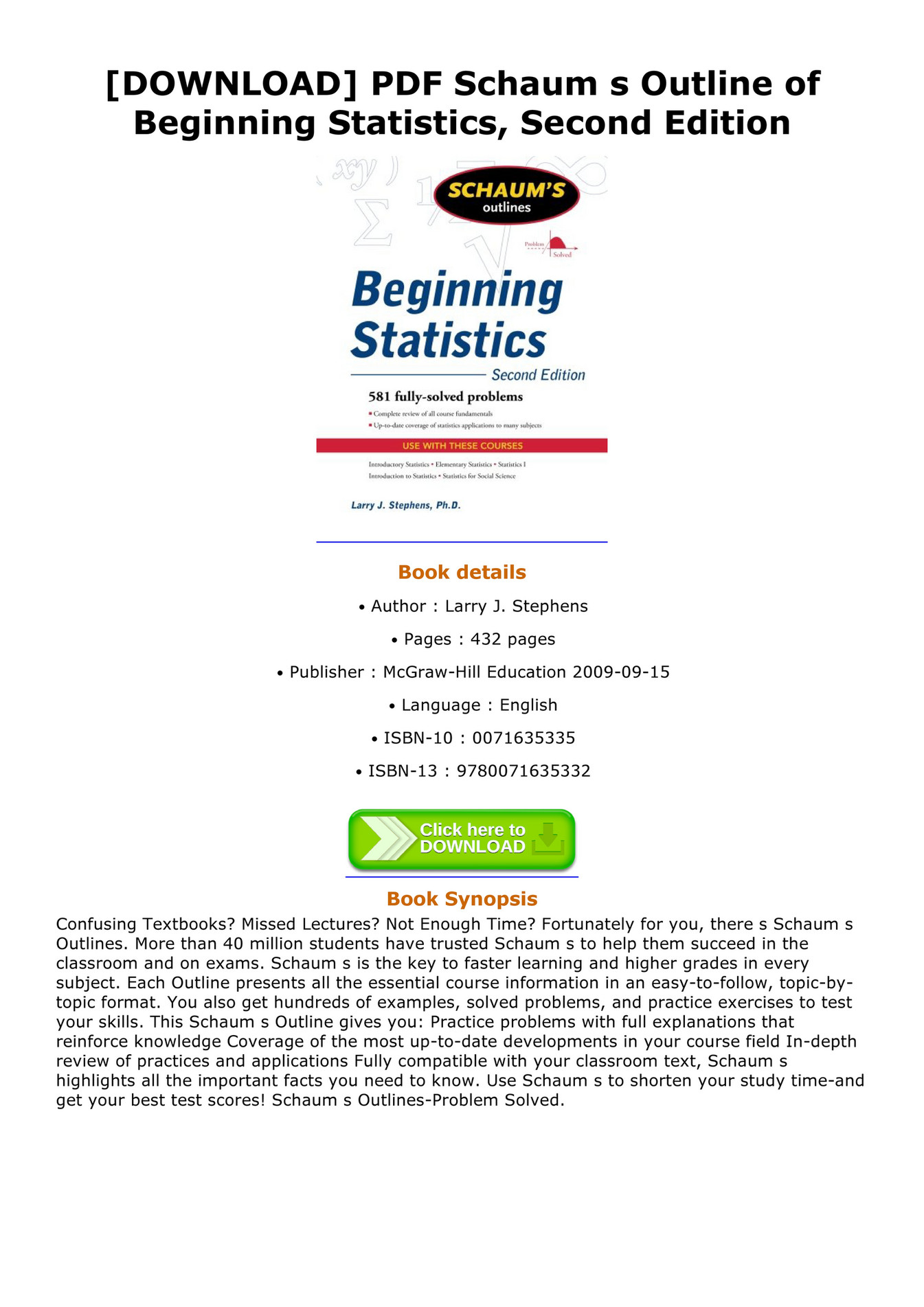 Becker - DOWNLOAD PDF Schaum s Outline of Beginning