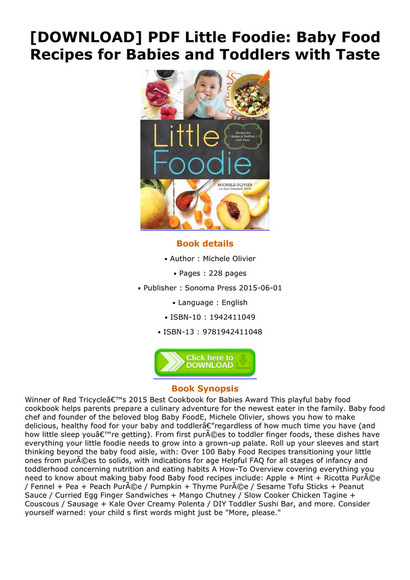 Shonda download pdf little foodie baby food recipes for babies and download pdf little foodie baby food recipes for babies and toddlers with taste forumfinder Image collections