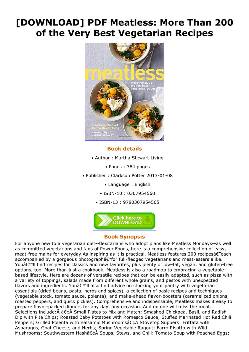 Tyron download pdf meatless more than 200 of the very best download pdf meatless more than 200 of the very best vegetarian recipes meatless forumfinder Gallery