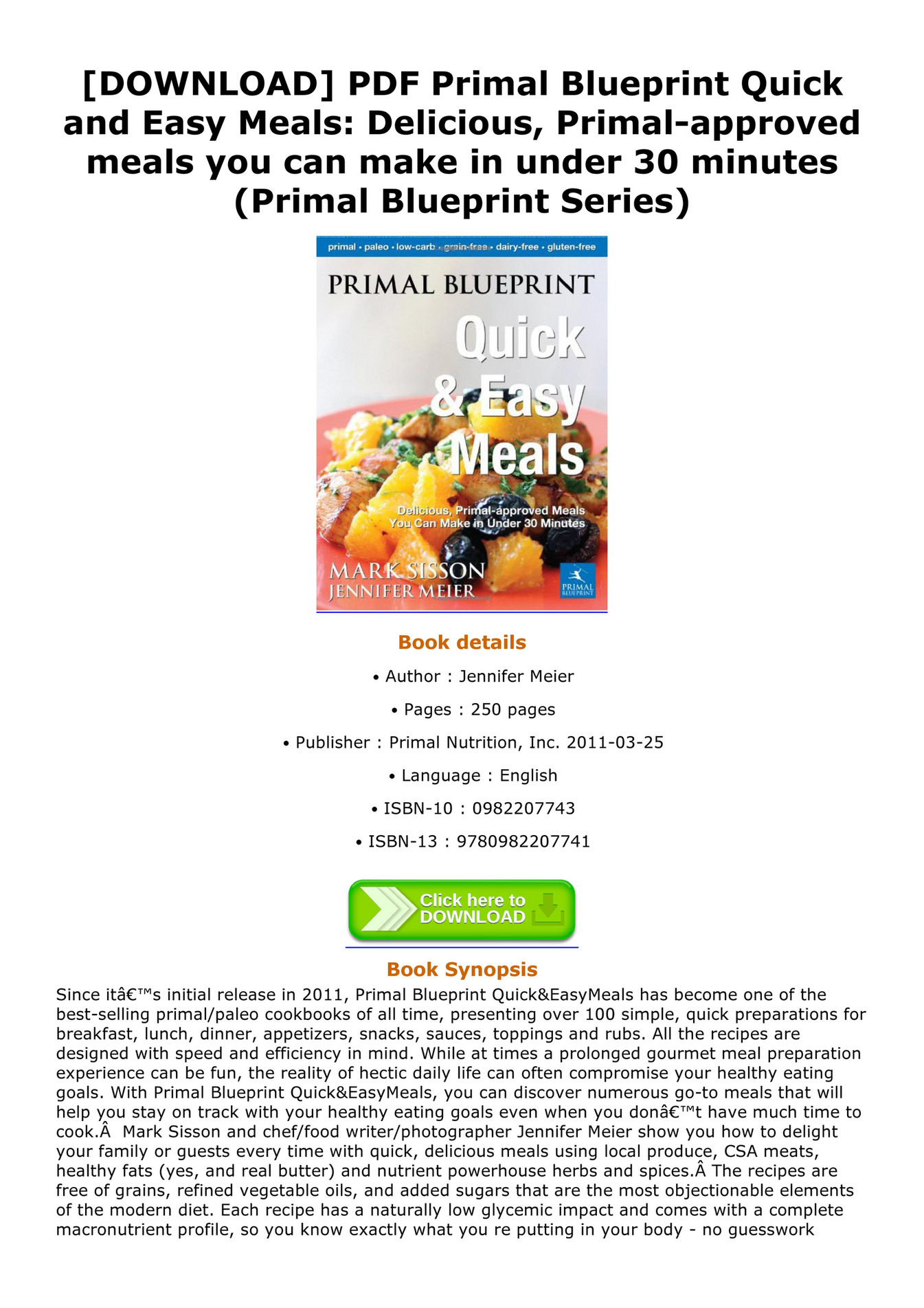 Nestor download pdf primal blueprint quick and easy meals nestor download pdf primal blueprint quick and easy meals delicious primal approved meals you can make in under 30 minutes primal blueprint series page malvernweather Choice Image