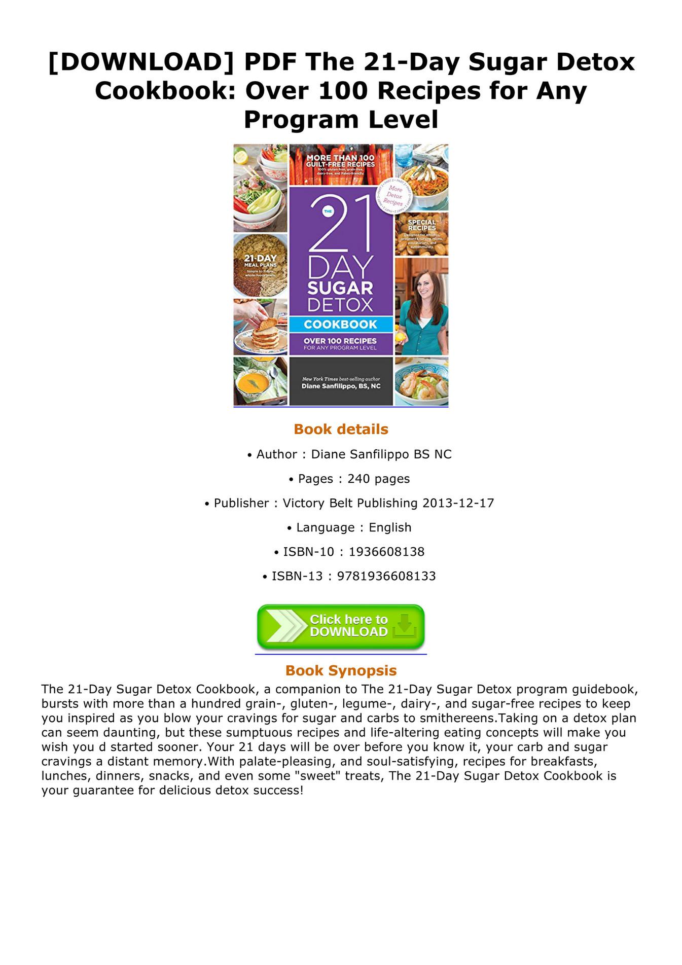 detox meal plan pdf