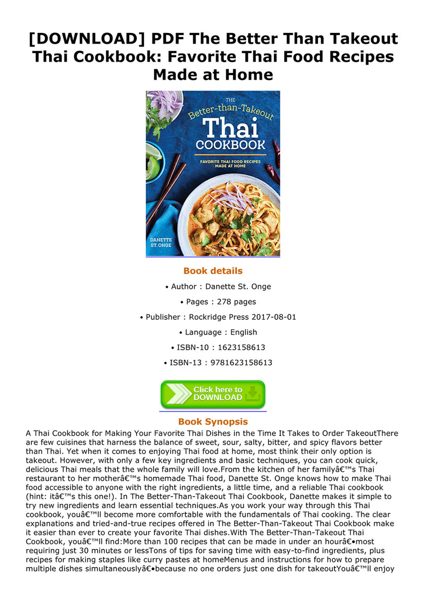 Childers download pdf the better than takeout thai cookbook download pdf the better than takeout thai cookbook favorite thai food recipes made forumfinder Choice Image