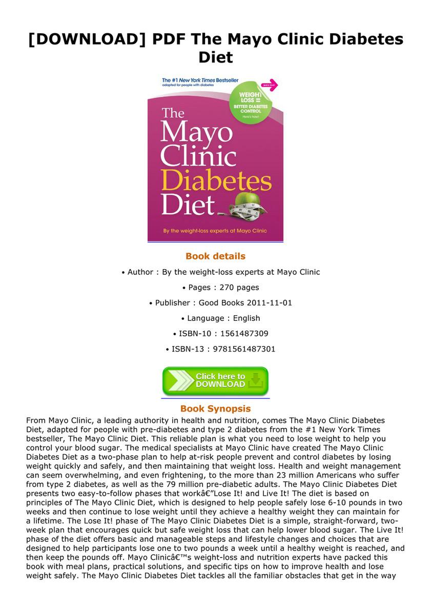 mayo clinic diet pdf