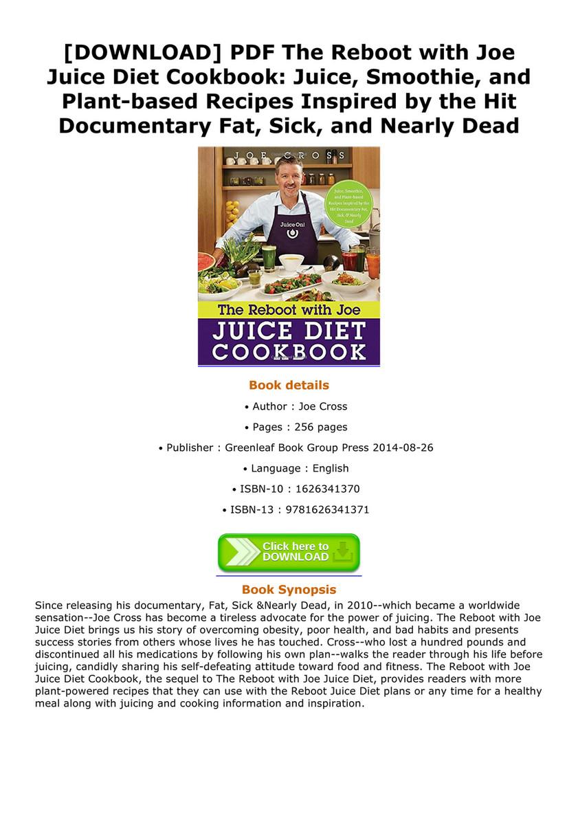 Reboot with joe juice diet recipes