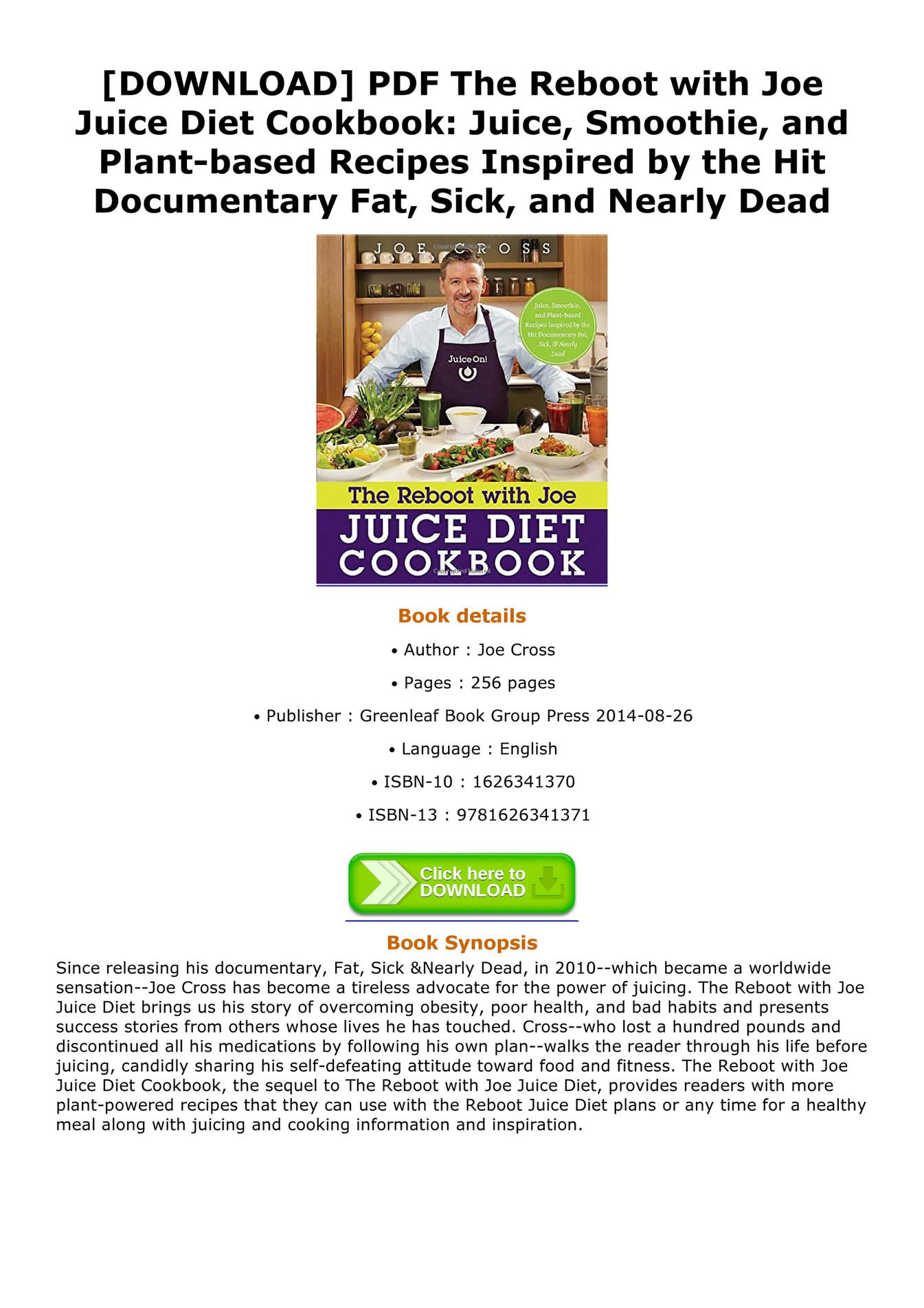 reboot with joe juice diet pdf free download