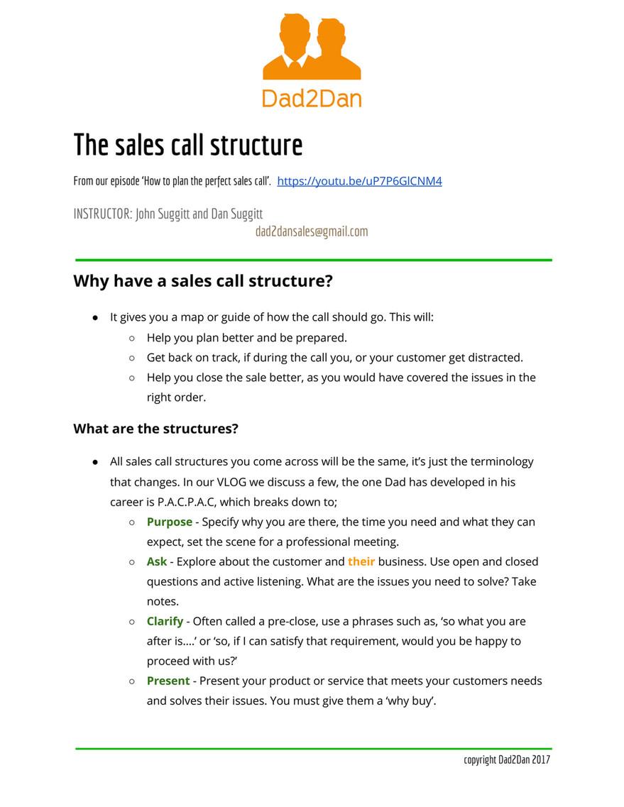 dad2dan dad2dan sales question crib sheet page 1 created with